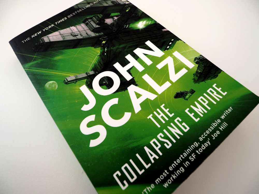 """Foto vom Buch """"The Collapsing Empire"""""""